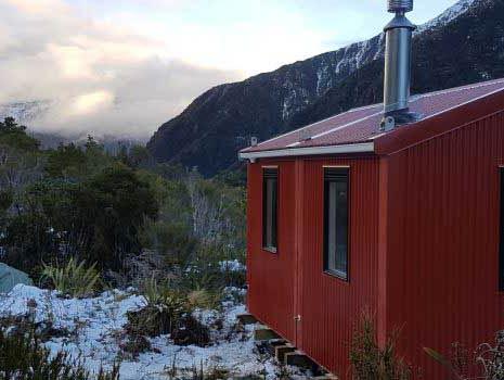 Light Gauge Steel allows for airlift of new DOC hut