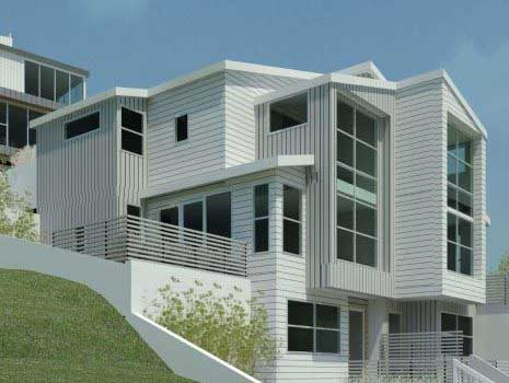 Structural Design of 3 houses on a steep site